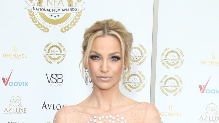 LONDON, ENGLAND - MARCH 28: Sarah Harding attends the National Film Awards UK at Portchester House on March 28, 2018 in London, England. (Photo by Mike Marsland/Mike Marsland/WireImage)