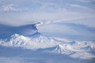 Kliuchevskoi Eruption Plume