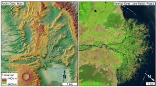 River Deltas on Mars and Earth