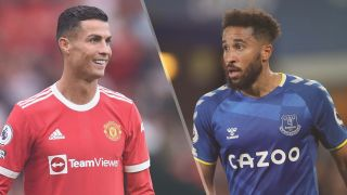 Cristiano Ronaldo of Manchester United and Andros Townsend of Everton