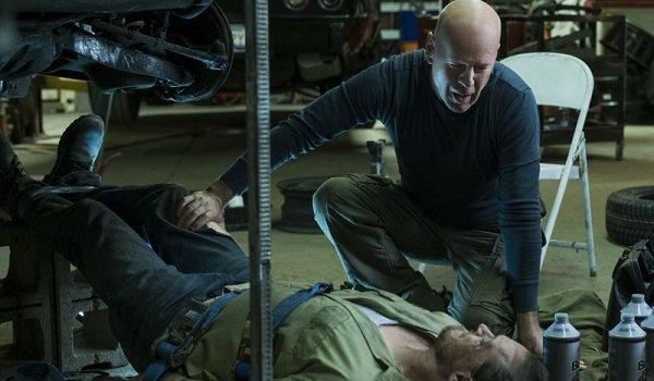 Death Wish Bruce Willis threatens a mechanic underneath his car