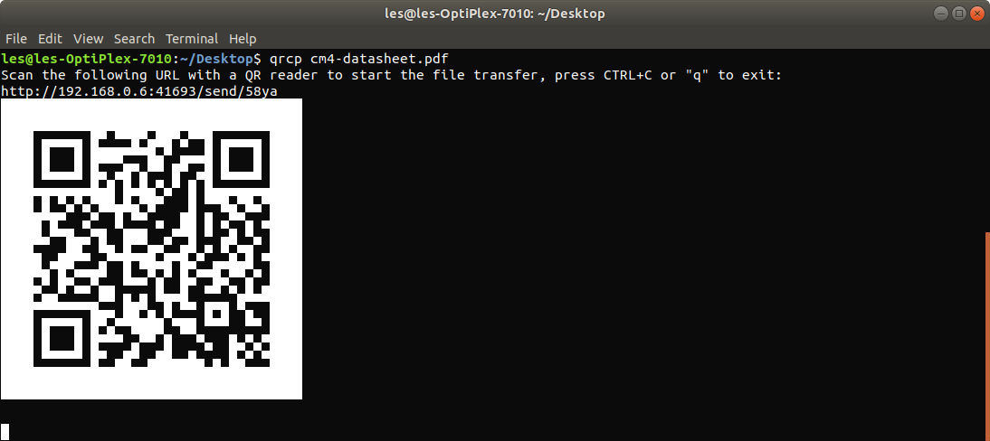 How To Wirelessly Transfer Files With a QR Code