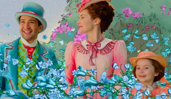 Lin-Manuel Miranda as Jack, Emily Blunt as Mary Poppins, Pixie Davies as Anabel in live-action/anima