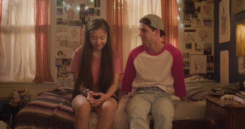 Emma Galbraith and William Magnuson as Angie and Liam in 'Inbetween Girl'