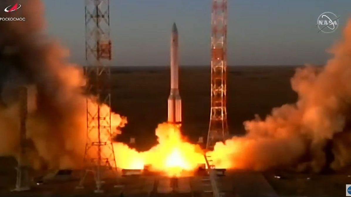 Russia's largest space laboratory yet launched into orbit Wednesday (July 21) on a mission to expand the International Space Station after 14 years of