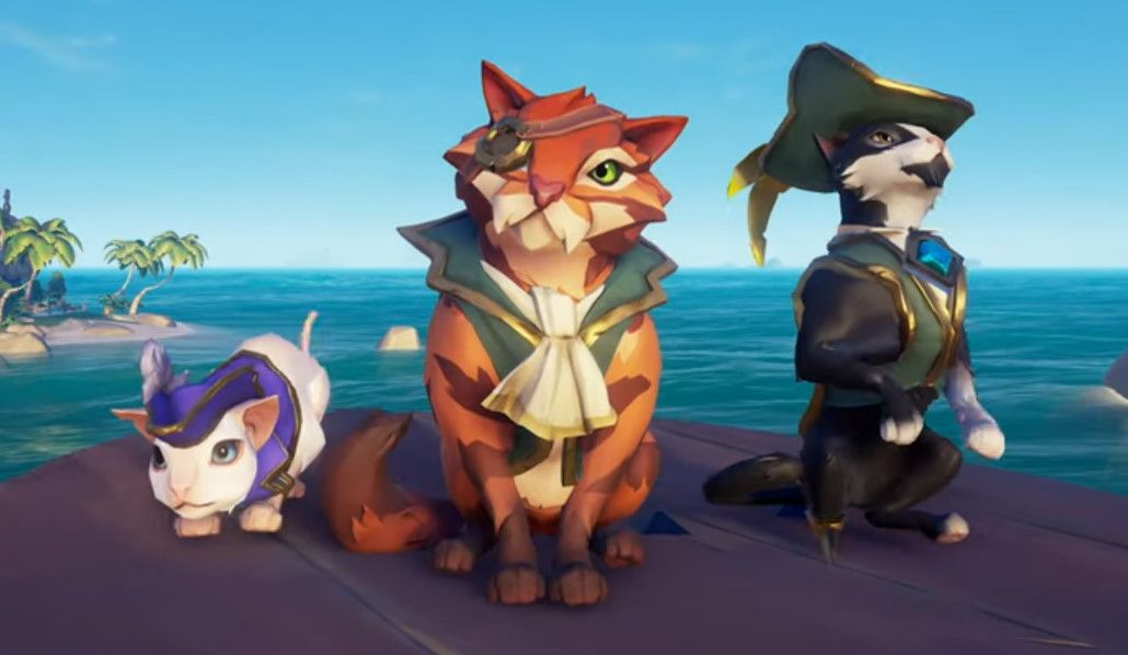 Sea of Thieves adding cats (in hats) and a new trading company in next update