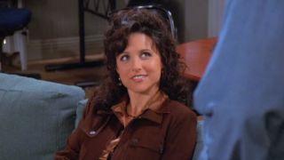 Julia Louis-Dreyfus as Elaine Benes on Seinfeld