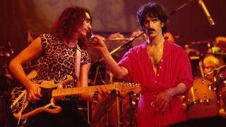 [L-R] Steve Vai and Frank Zappa