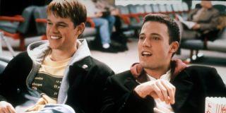 Matt Damon as Will Hunting and Ben Affleck as Chuckie Sullivan in Good Will Hunting (1997)