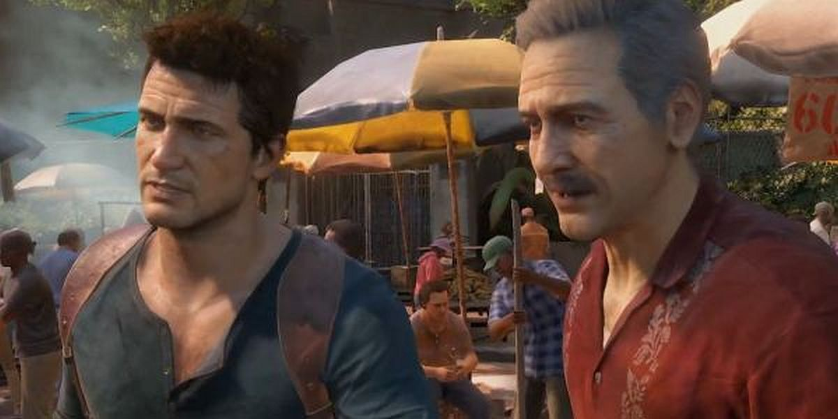 Nathan Drake and Sully in Uncharted 4