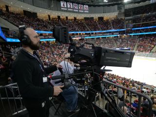 Prudential Center, home to the NHL's New Jersey Devils and NCAA's Seton Hall Pirates men's basketball team, has upgraded to Panasonic AK-HC5000 HD HDR studio/field camera systems for all in-game presentation on the arena's massive center-hung LED scoreboards.