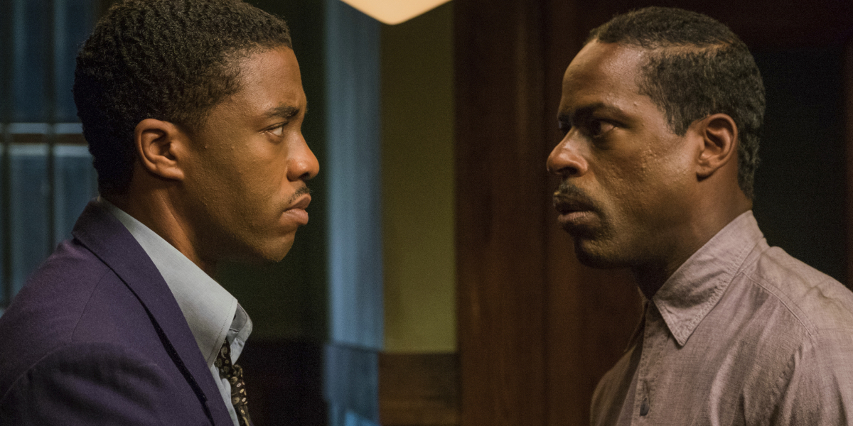 Chadwick Boseman and Sterling K. Brown in Marshall