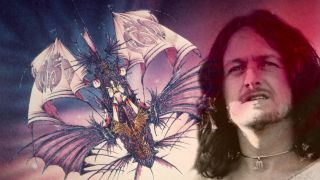 Jon Anderson montage with an illustration from Olias Of Sunhillow