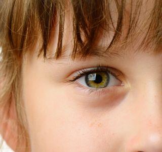 child eye, iris