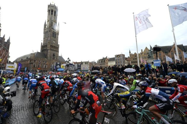 The start of the 2014 Tour of Flanders