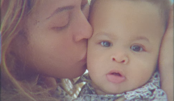 Beyonce with one of her twins rumi and sir in Homecoming