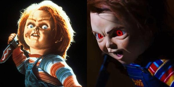 Chucky in Childs Play 1988 and 2019