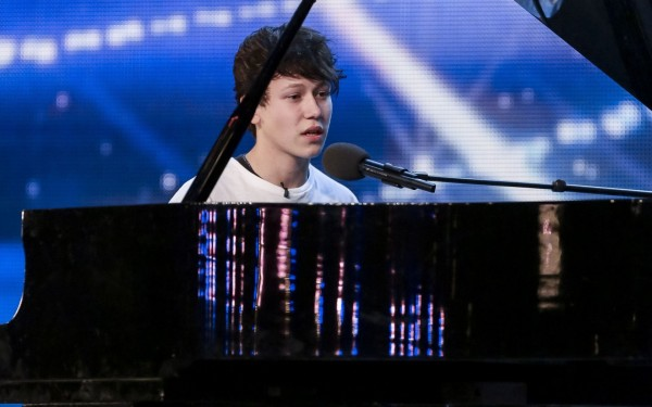 Isaac Waddigton performs on Britain's Got Talent