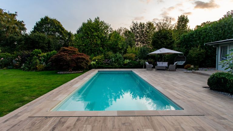 pool design ideas with decking by SPATA Member XL Pools