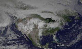 The GOES East satellite took this image of the weather system over the central part of the country at 20:45 GMT (4:45 p.m. ET).