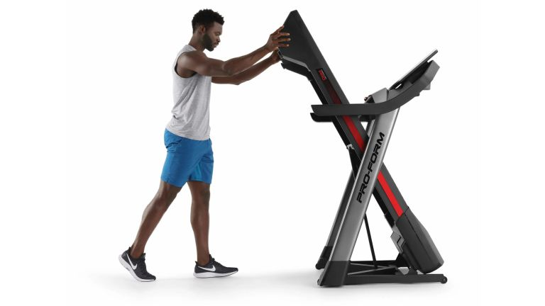 Best folding treadmills are ideal for smaller households, such as this vertically foldable ProForm treadmill