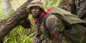 Kevin Hart Totally Freaks Out Over Viral Ostrich Moment Right Out Of A Scene In Jumanji