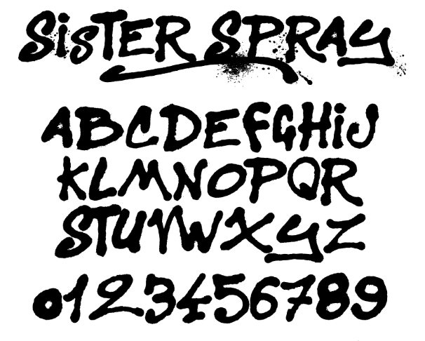 Best free fonts: Sister Spray