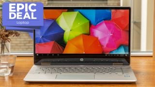 HP Pavilion x360 touch screen laptop now $599
