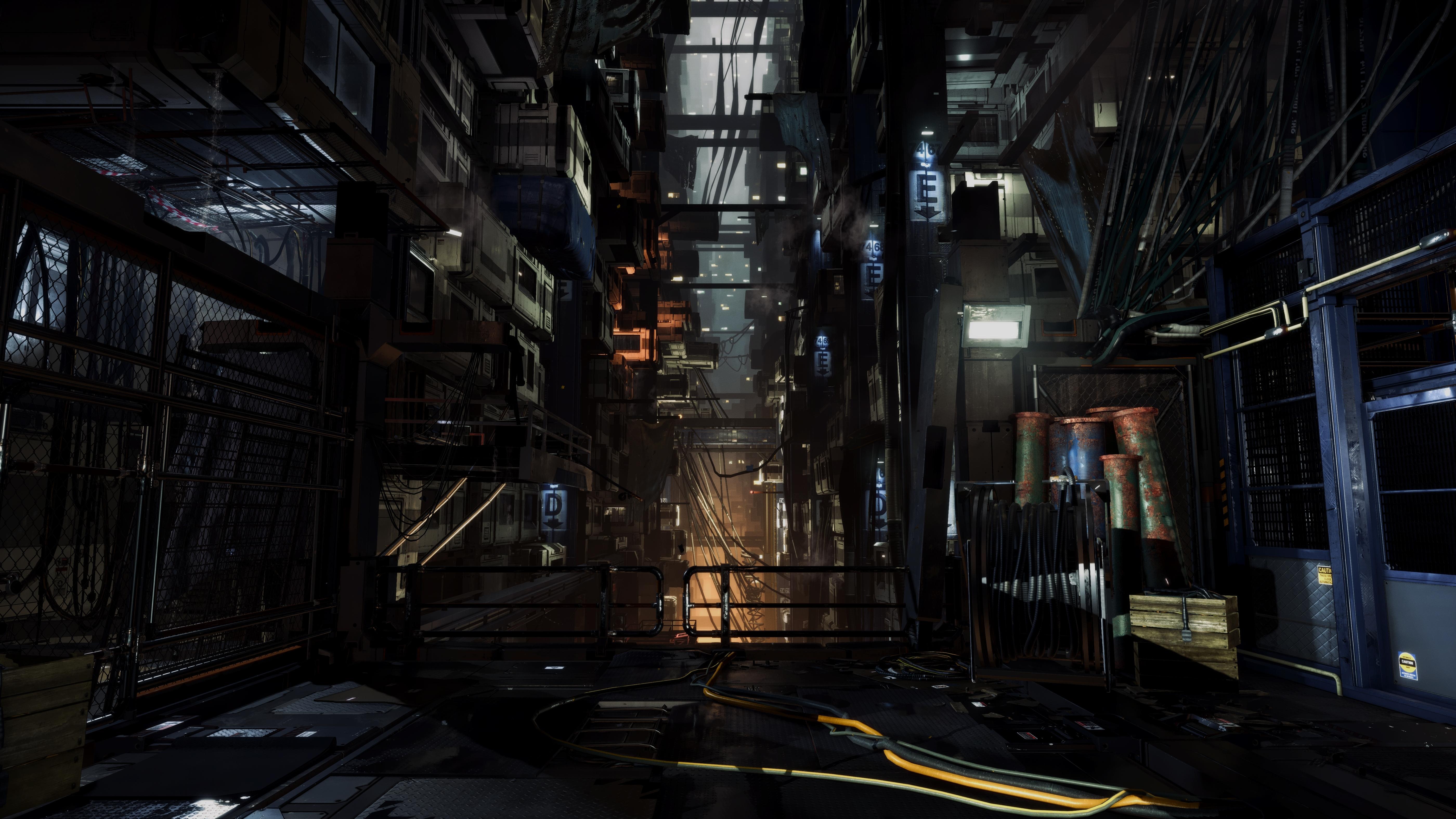 Deus Ex Mankind Divided 4k Gallery Cyborg Nights Pc Gamer