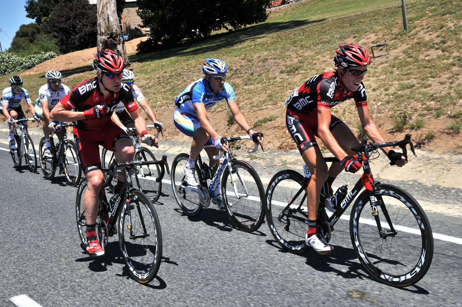 Zahner and Roe in escape, Tour Down Under 2011, stage two
