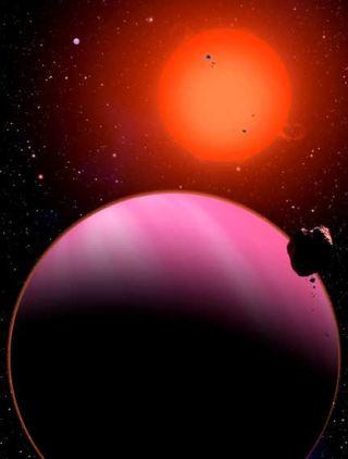 This alien planet has a temperature of around 1100 degrees Fahrenheit.