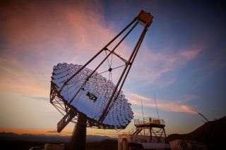 The Very Energetic Radiation Imaging Telescope Array System in Arizona was used to track asteroids as they passed in front of distant stars, providing more-accurate measurements of the stars' sizes.