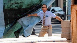Ryan Reynolds looking shocked as Guy in Free Guy