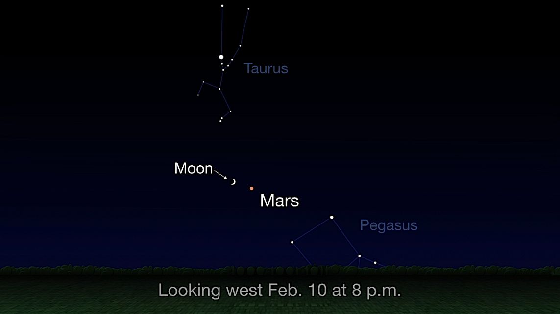 You Can See Mars Near the Moon Tonight! Here's Where to Look.