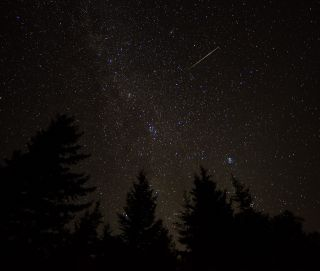 Perseid meteor over West Virginia