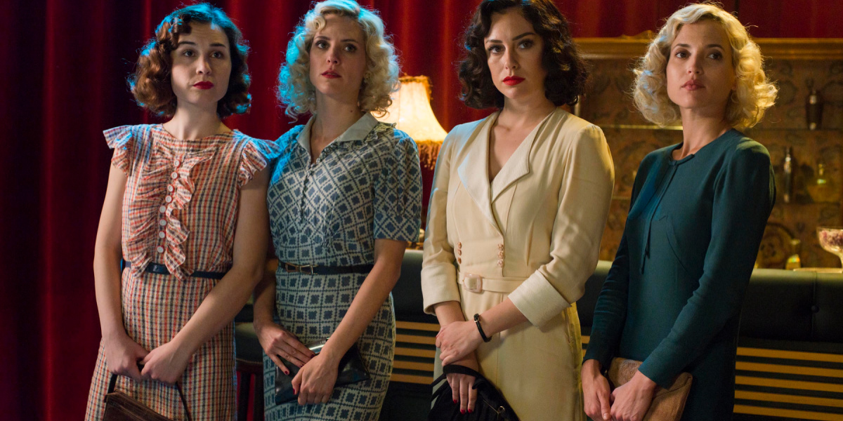 The main four characters in Cable Girls on Netflix.