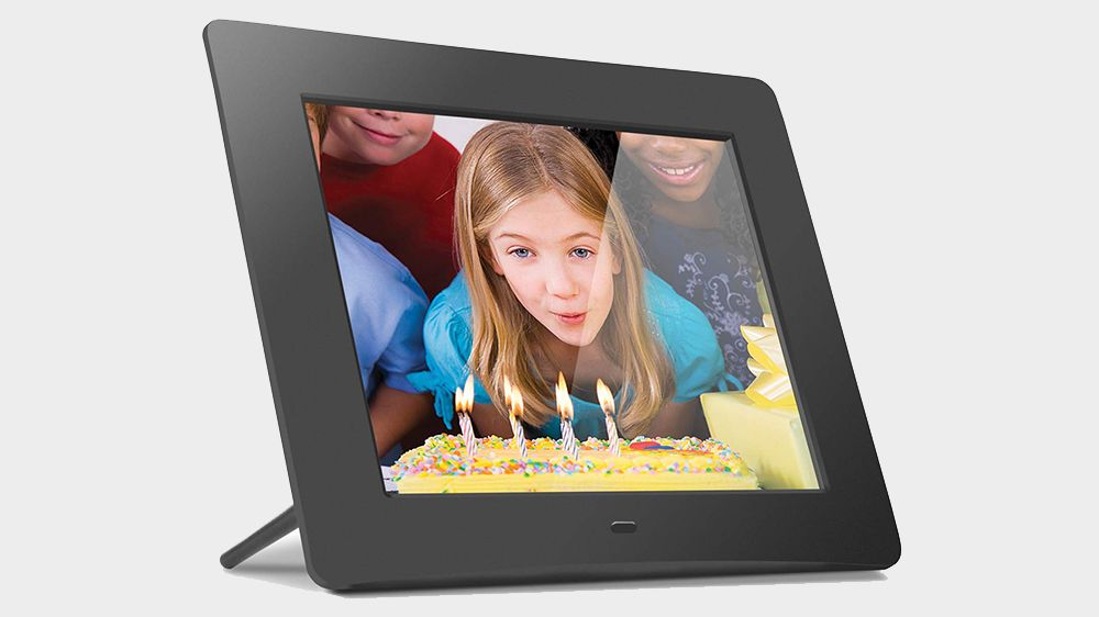 Color : Black CAOMING 15-inch Digital Photo Frame Electronic Photo Frame Ultra-Narrow Side Support 1080P Wall-Mounted Advertising Machine Durable