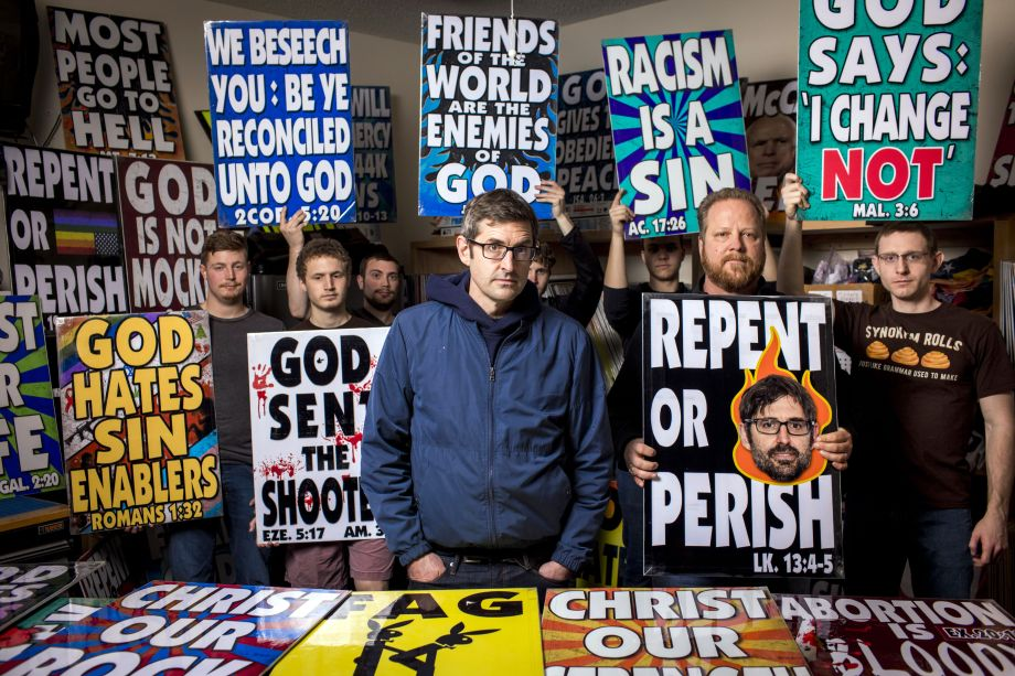 Louis Theroux with members of the Westboro Baptist Church