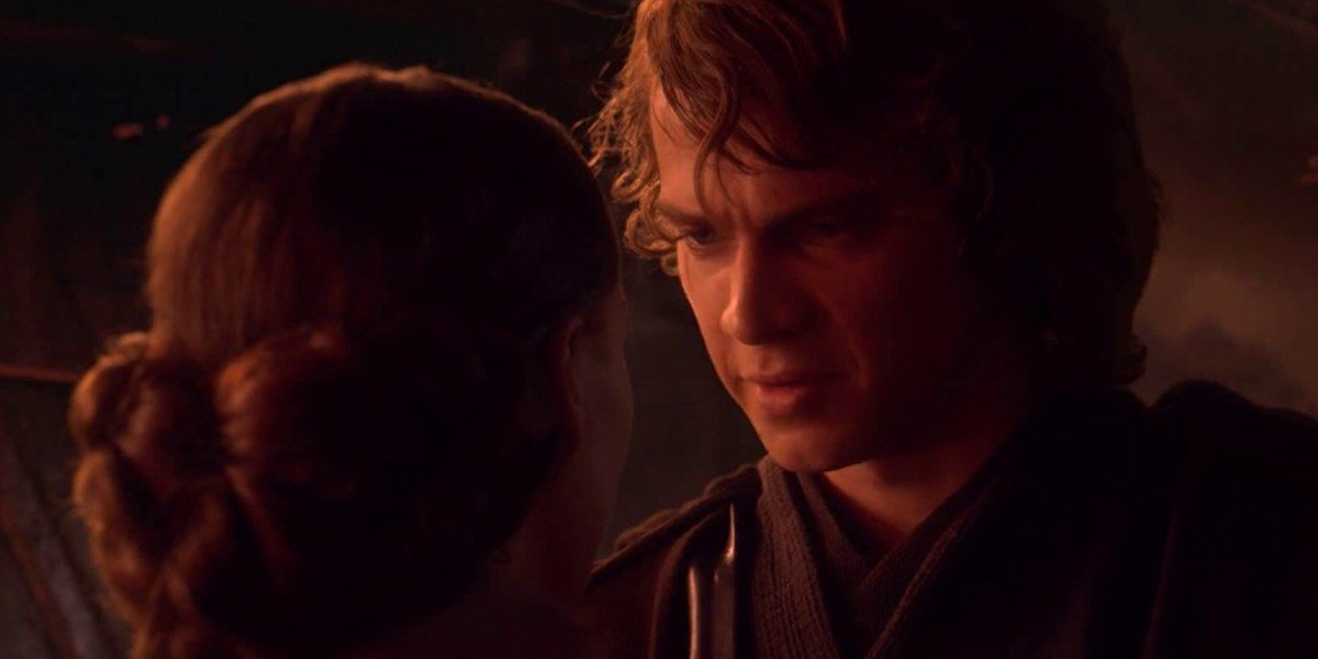 Anakin and Padme in Star Wars Revenge of the Sith