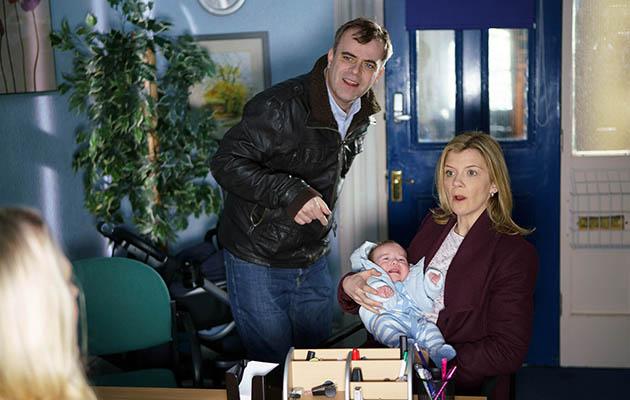 Steve, Leanne, baby Oli