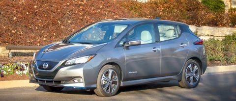 2022 Nissan Leaf parked on street