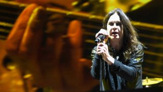 A picture of Ozzy Osbourne during Black Sabbath's Ozzfest Meets Knotfest headline set