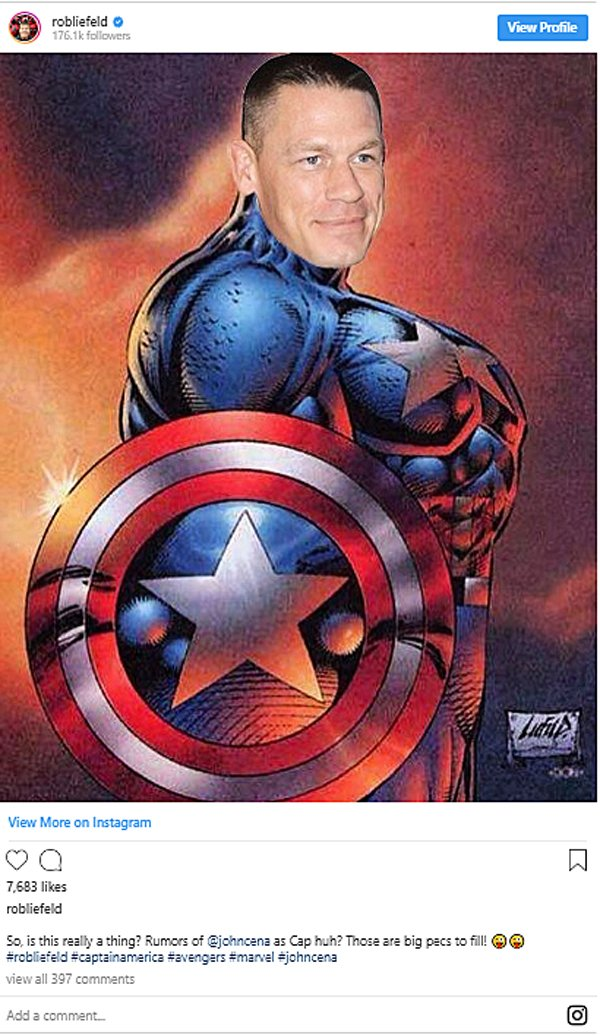 Deadpool creator Rob Liefeld posted about John Cena as Captain America