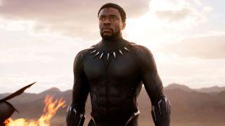 Chadwick Boseman's Black Panther walking away from fiery crash