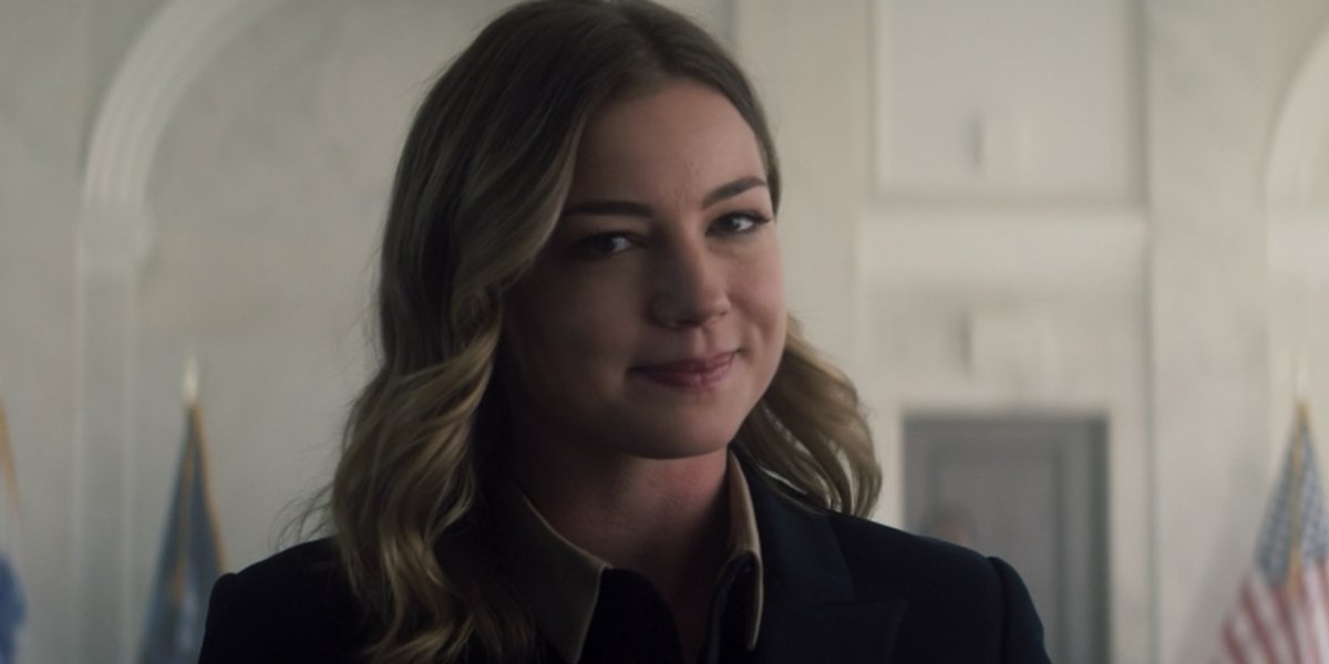 Emily VanCamp as Sharon Carter on The Falcon and the Winter Soldier