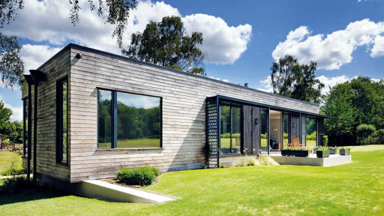 timber clad self build cabin
