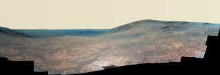 Enhanced-Color View of Mars' Marathon Valley