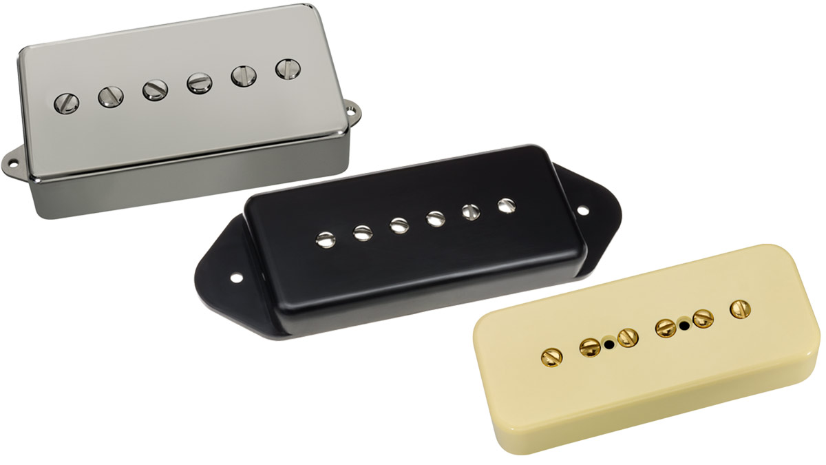 DiMarzio unveils Vintage P90 guitar pickup in soapbar, dog ear and full-sized humbucker formats