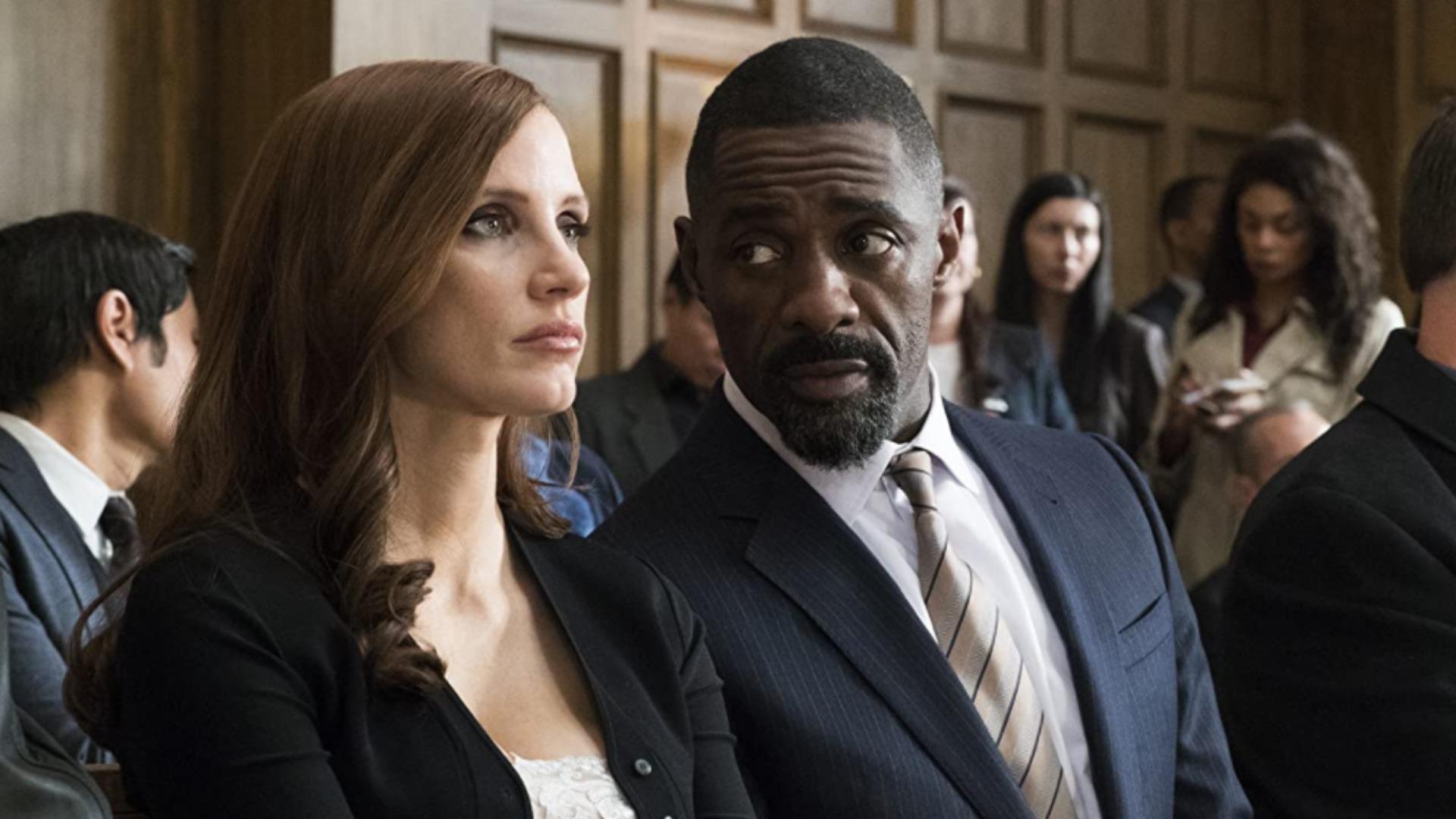 Jessica Chastain e Idris Elba en el juego de Molly