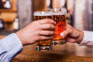 beer, mug, hands, cheers